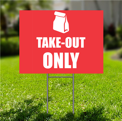 Lawn-Sign - Take Out bag