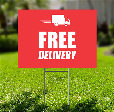 Lawn-Sign - Free Delivery