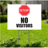 Lawn-Sign - Stop No Visitors