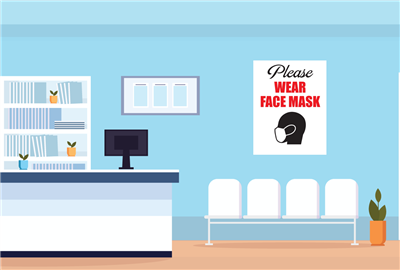 Wall/Office Adhesive - Please Face mask