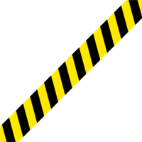 Floor Tape Strips- Caution (4 foot x 4 inch) (set of 4)